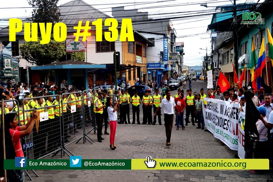 16 Detenidos y 7 Policías heridos en #13A en Puyo