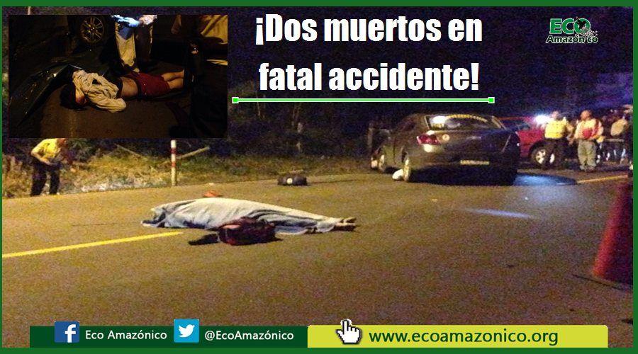 Dos muertos deja accidente de tránsito en Puyo