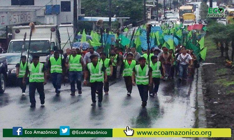 Marcha de los posesionaros de la Té Zulay