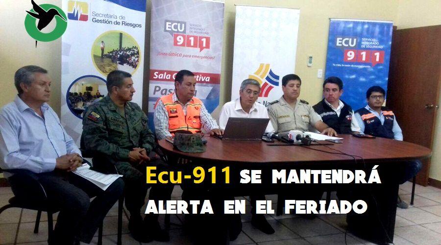 ECU 911 se mantendrá 100% operativo durante el feriado de noviembre en Pastaza
