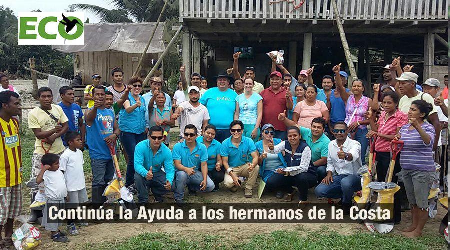 Continua la ayuda a los damnificados por el terremoto del 16 de abril