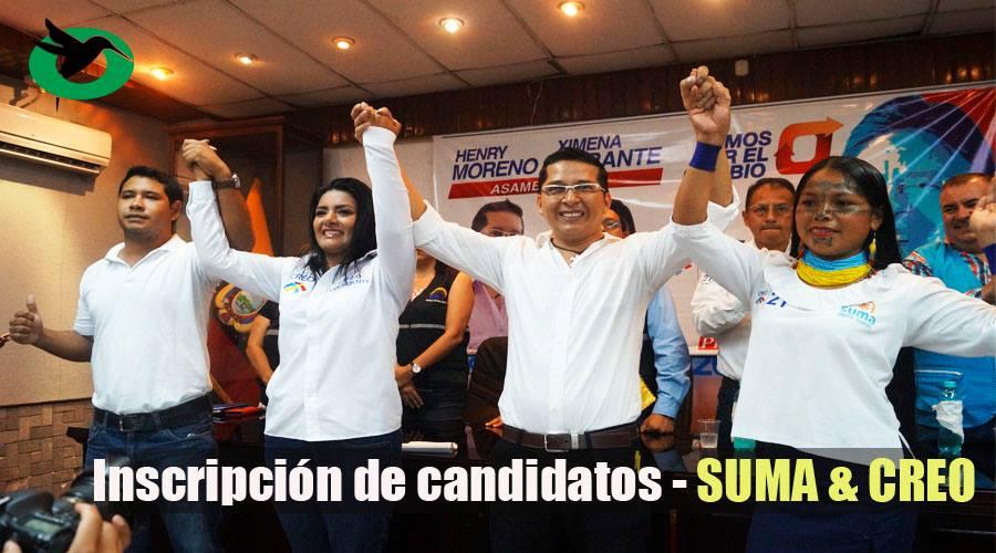 Inscripción de candidatos SUMA CREO en Pastaza