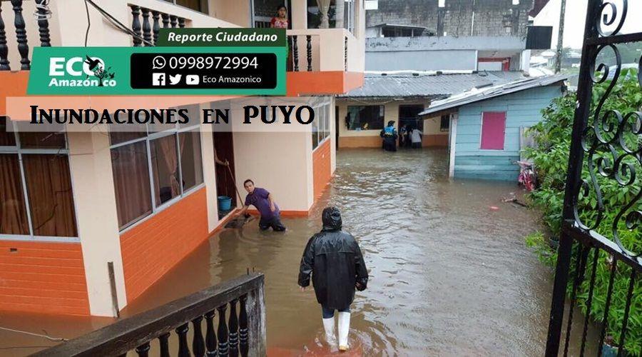 Lluvias causaron inundaciones y derrumbes en Pastaza