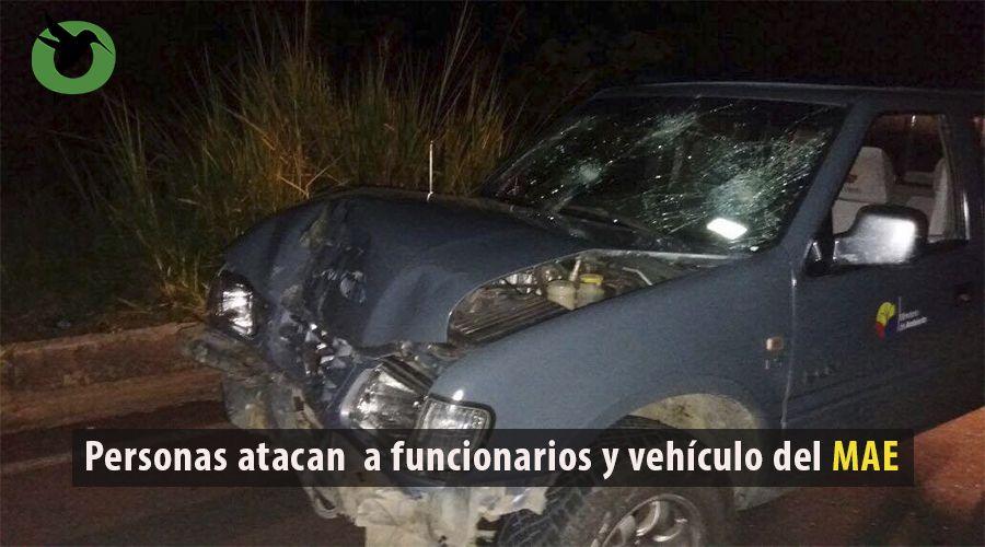 Ataque a funcionarios y vehículo del MAE Pastaza