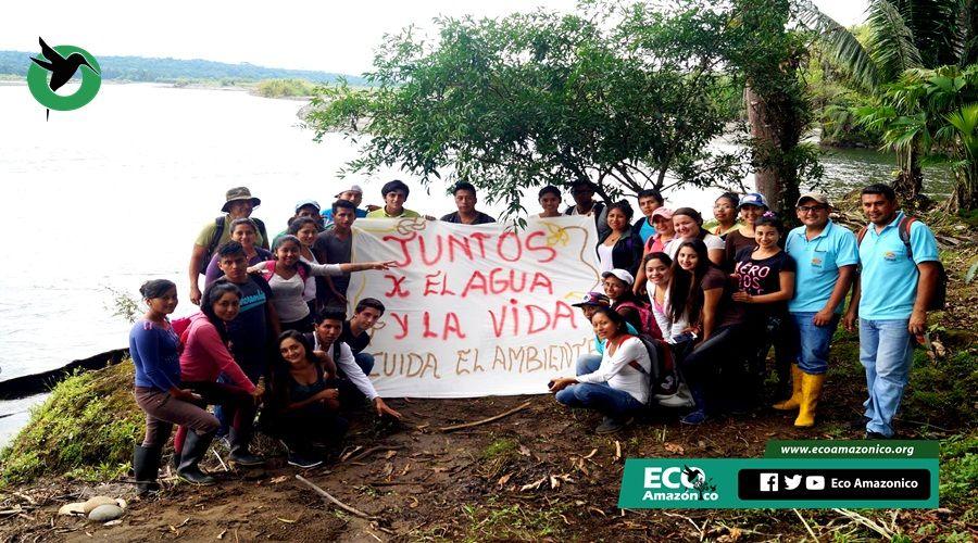 Minga de limpieza se realizó en la cuenca baja del río Puyo