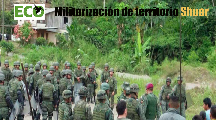 CONAIE denuncia militarización de territorio Shuar en San Carlos