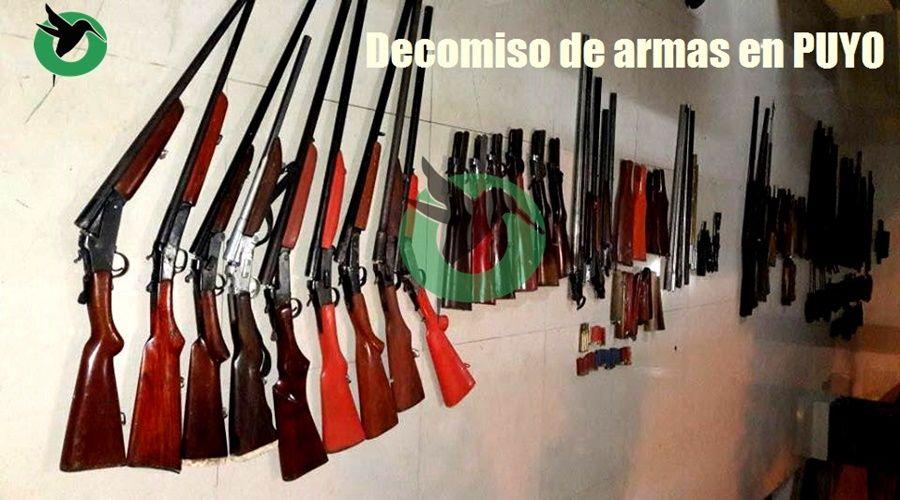 Se decomisa armas de fuego de fabricación artesanal en Puyo