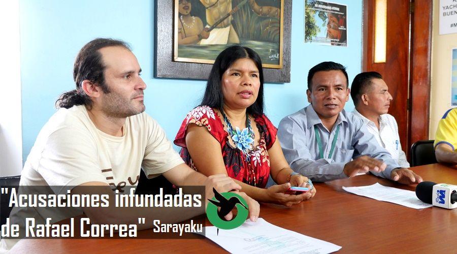 Sarayaku responde acusaciones de secuestro realizadas por Correa