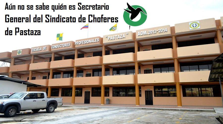 Aún no se sabe quien mismo es el presidente del Sindicato de Choferes de Pastaza