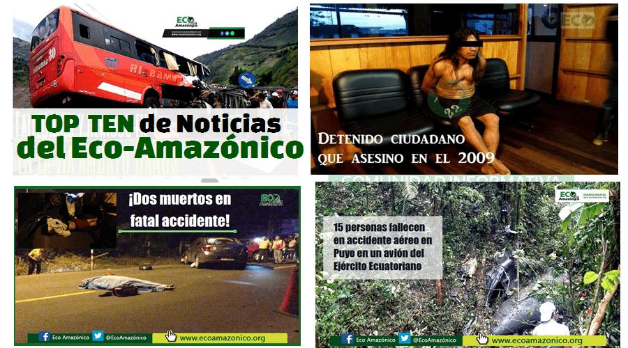 El Top Ten de Noticias del Eco-Amazónico del 2016