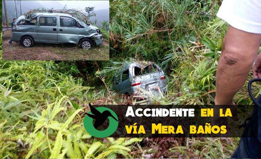 Accidente de tránsito en el sector de Cumandá