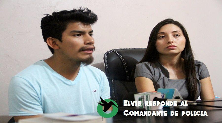 Elvis Guamán, dice que el Comandante de Policía miente sobre su detención