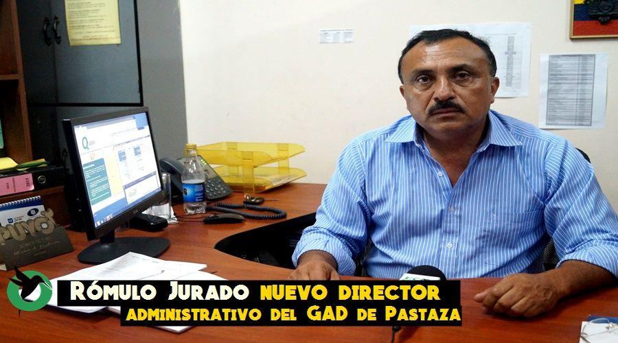 Nuevo director administrativo del GAD de Pastaza