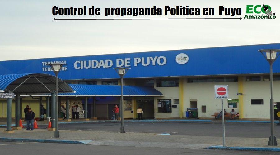 controlará propaganda política en Puyo
