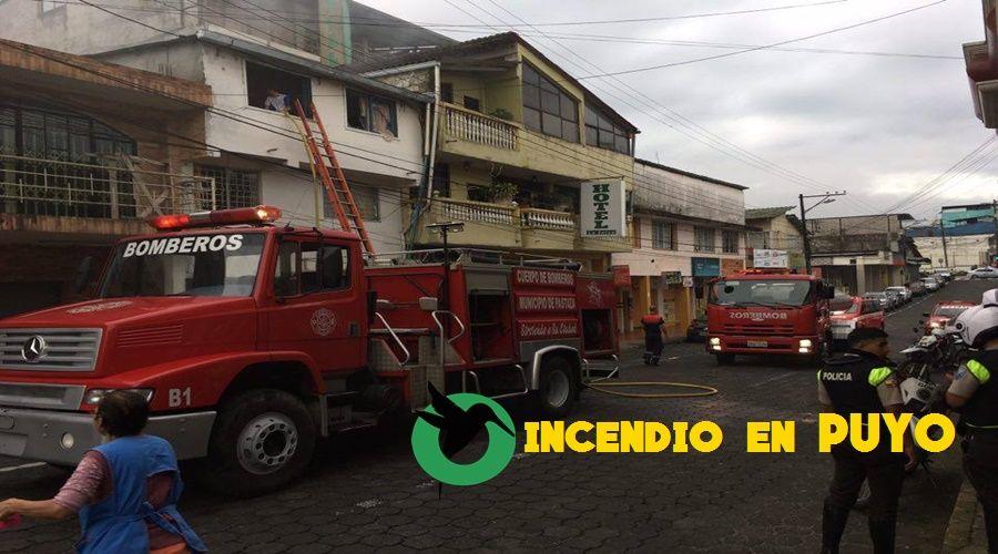 Incendio en una vivienda de Puyo
