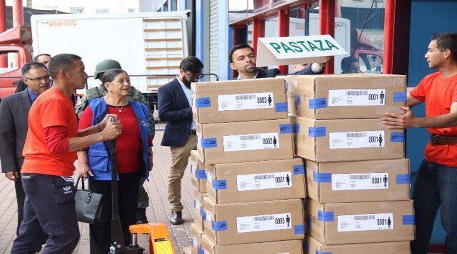 Inició la distribución de kits electorales a escala nacional