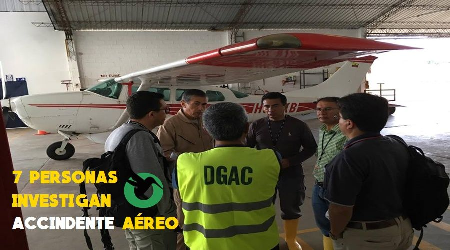 7 personas investigan accidente aéreo