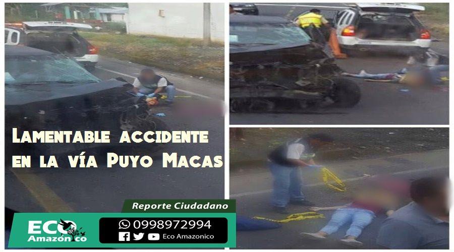 Accidente de tránsito en la vía Macas Puyo deja una persona fallecida