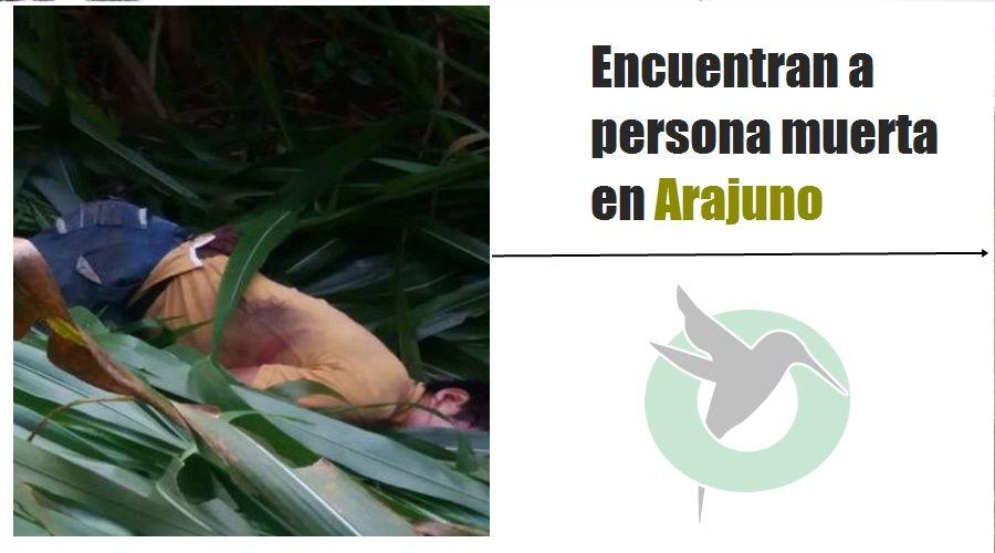 Encuentran a una persona muerta en Arajuno