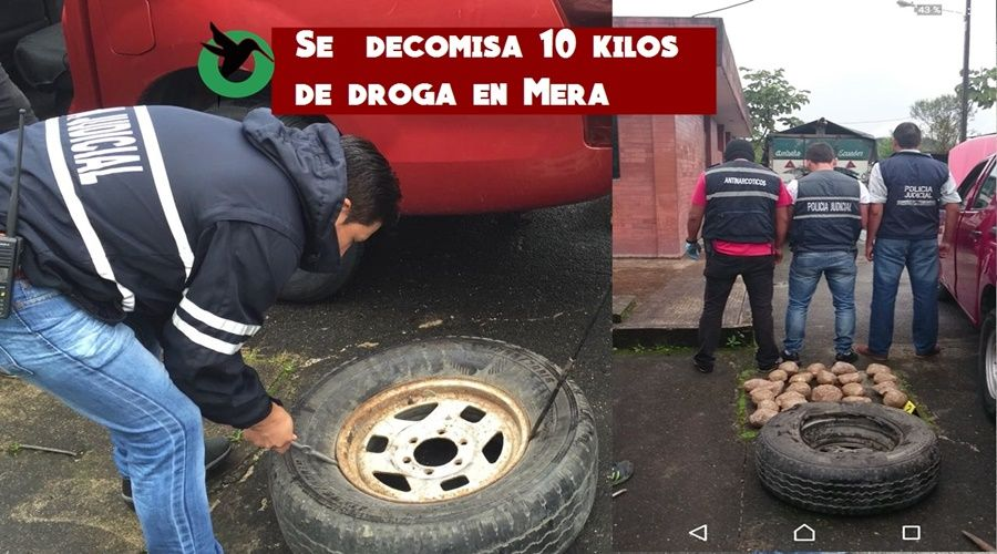1.000 dosis de cocaína decomisadas en Mera