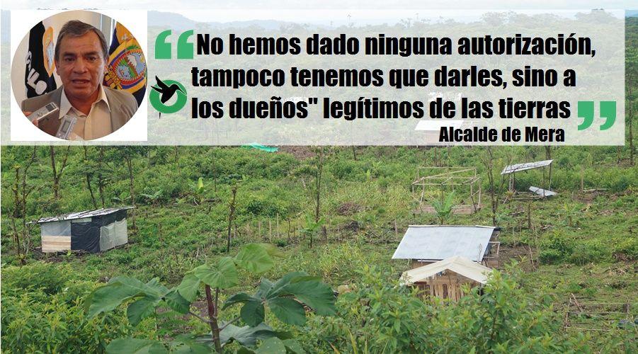 Alcalde de Mera opina sobre la Té Zulay