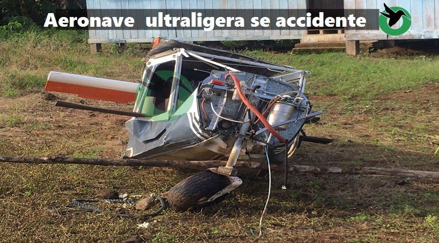 Areonave ultraligera se accidente en Paastaza