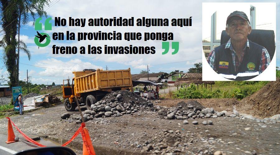 Arturo Saravia frente a las invasiones en la Té Zulay