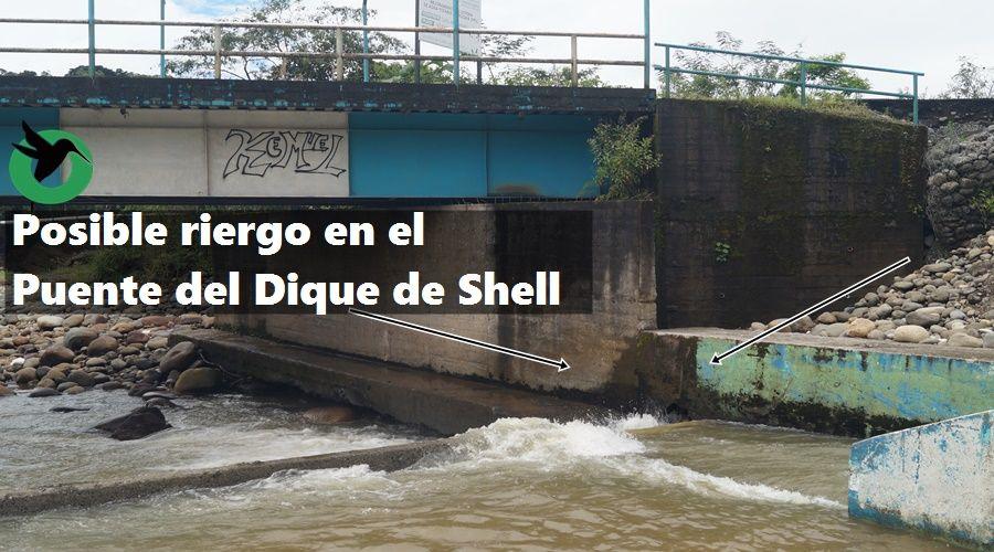 En posible riergo en Puente de Shell