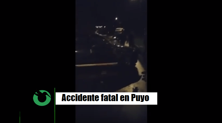 Fatal accidente en el en sector de Santa Rosa