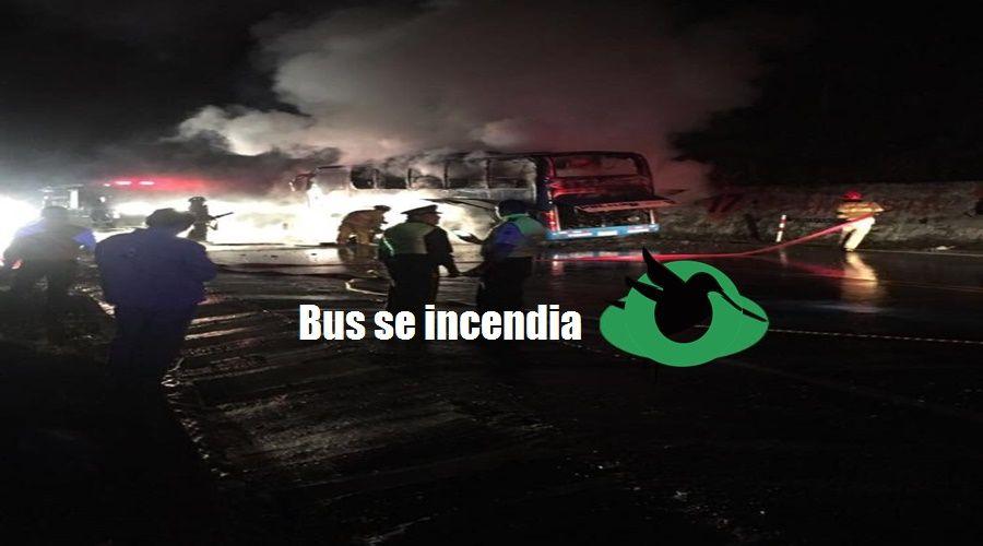 Bus de la Cooperativa Pelileo se incendia
