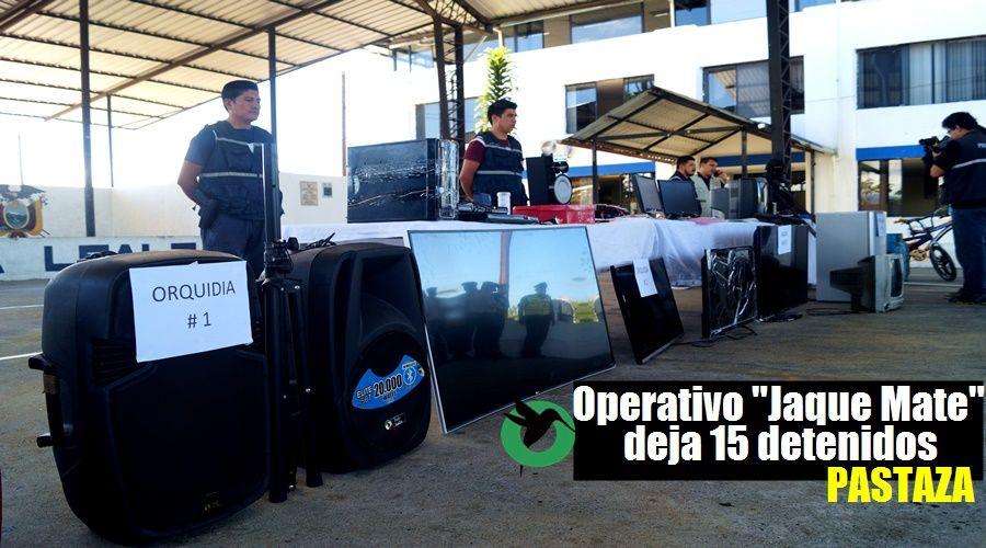 15 detenidos en operativo Policial en Pastaza