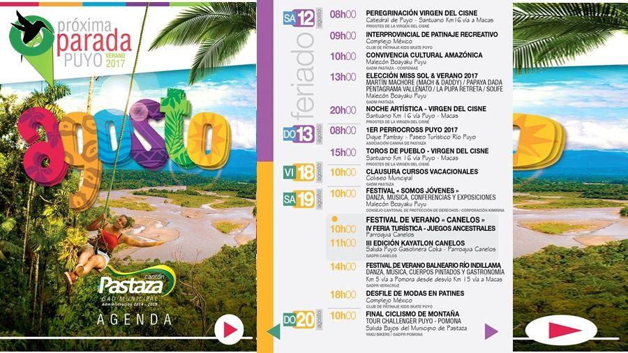 """Listo el programapara """"Agosto mes del Turismo"""""""