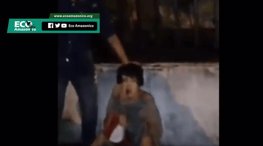 Delincuente recibe una paliza