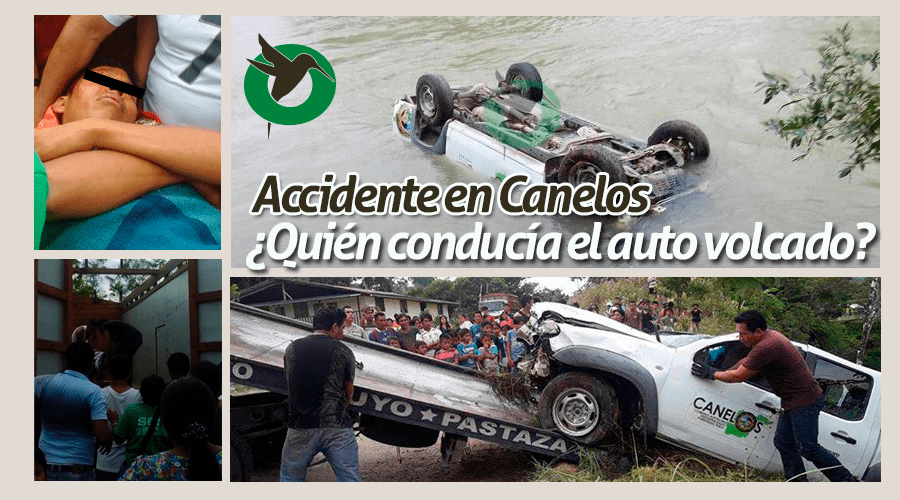 Accidente en Canelos