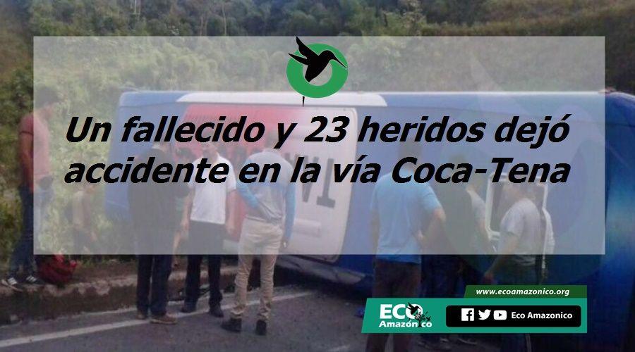 Fatal accidente en la vía Coca-Tena