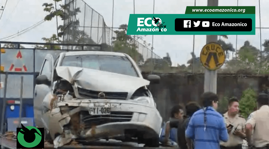 Accidente en la vía a Macas