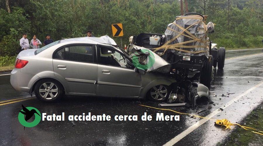 Fatal accidente cerca al puente del Alpayacu