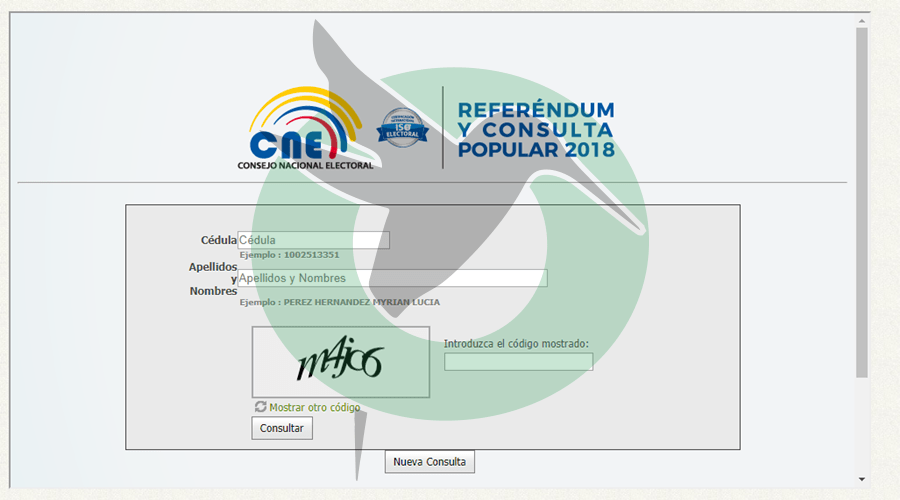 Consulte su mesa y LUGAR DE VOTACIÓN para las Elecciones 2018 en Ecuador