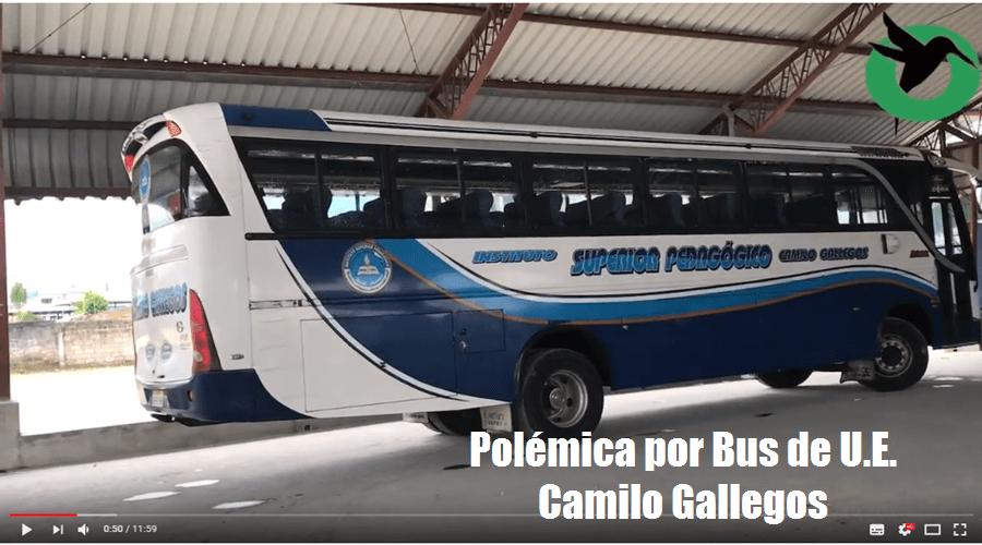 Bronca por el Bus de la Camilo gALLEGOS