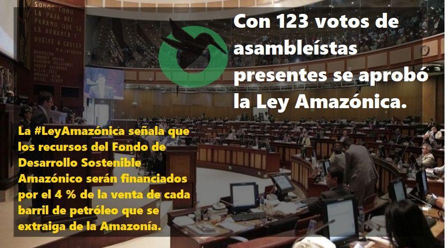 Se aprobó ley Amazónica