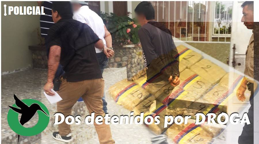 Dos detenidos por droga en Puyo