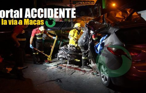 Accidente mortal en la vía a Macas