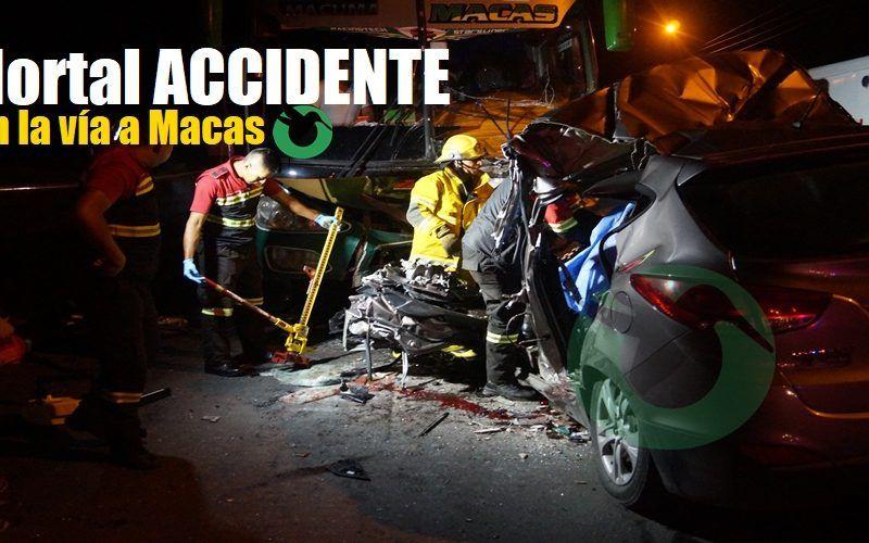 Accidente mortal en la vía a Macas