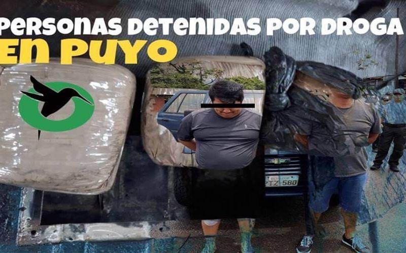 Decomisan droga en Puyo