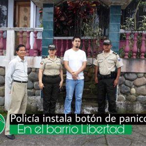 Policía instala  botón de pánico