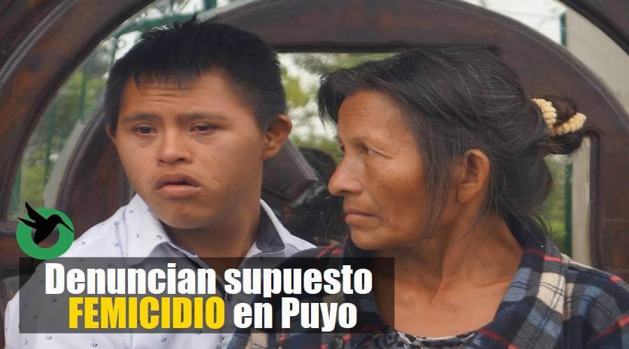 Femicidio en Puyo