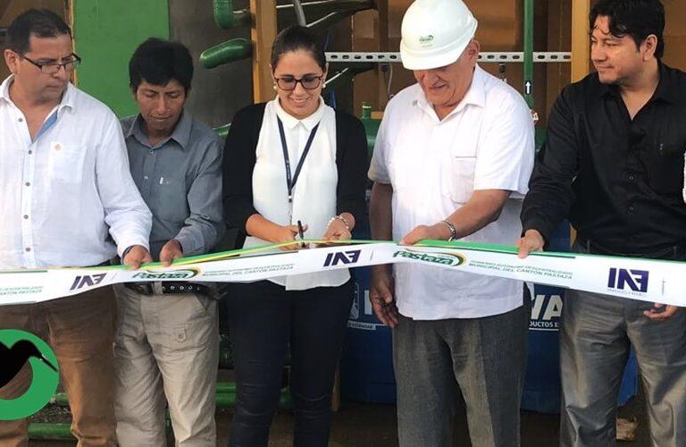 Se inaugura planta de tratamiento en Puyo.