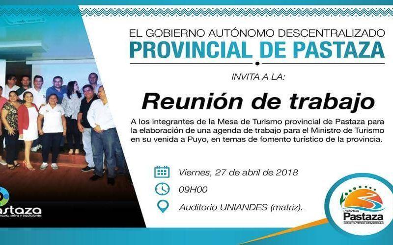 Fomentar el turismo en Pastaza