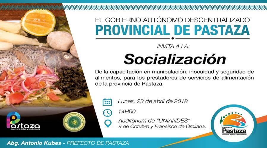 GADPz Socializa capacitación a los prestadores de alimentación