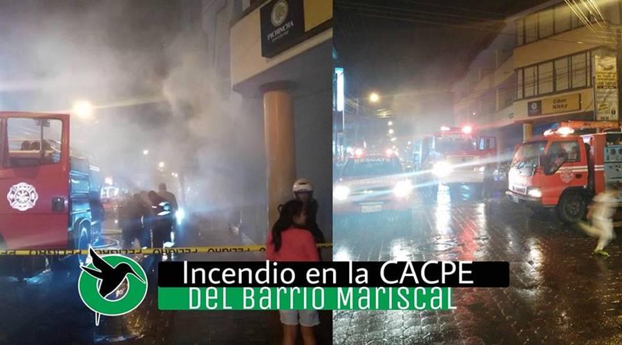 Incendio en la CACPE del Mariscal
